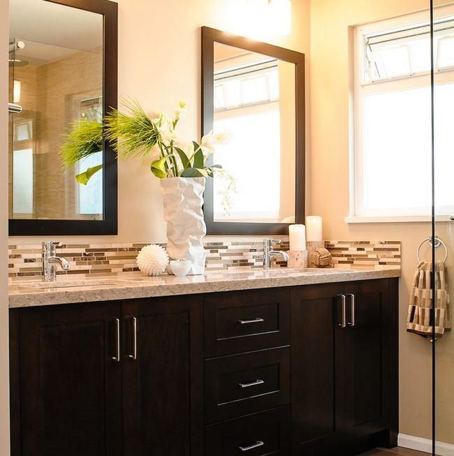 Glass Tile Backsplash Kitchen Granite Countertops