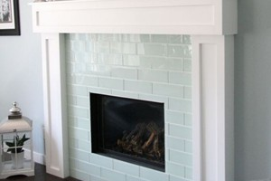FIREPLACE - GLAZZIO GLASS TILE ICE MIST 4X12