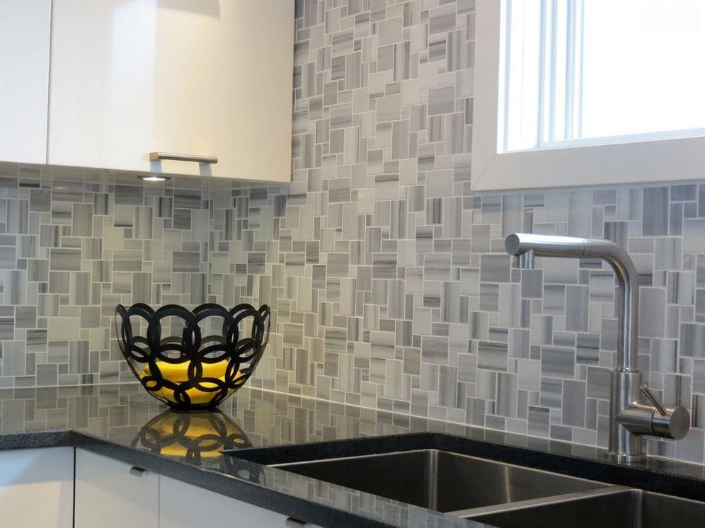 Kitchen Backsplash Anatolia Fluid Marble Mini Versaille