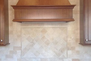 KITCHEN BACKSPLASH - ANATOLIA IVORY HONED AND FILLED 3X6 AND 4X4