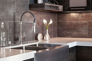 KITCHEN BACKSPLASH - ELEGANZA METALLICA BLACK