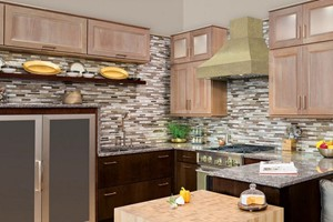 KITCHEN BACKSPLASH - GLAZZIO ORBIT METEOR SHOWER