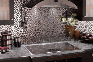 KITCHEN BACKSPLASH - SOLISTONE METAL PEBBLES ASTRO