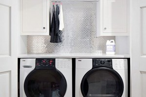 LAUNDRY BACKSPLASH - 1X3 STAINLESS