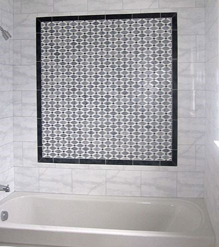 Shower Glazzio Diamond Series Black And White