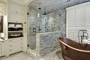 Shower Anatolia Ledgestone Beachwalk