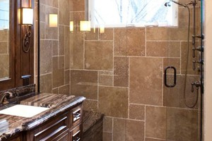 SHOWER - ANATOLIA TRAVERTINE NOCE