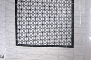 SHOWER - GLAZZIO DIAMOND SERIES BLACK AND WHITE